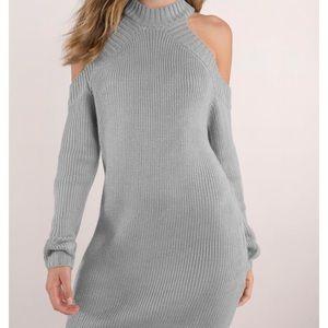 Tobi cutout grey sweater dress (small)